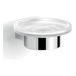 Gedy - Wall Mounted Glass Soap Dish With Chrome Mounting - Sleek luxury wall mounted soap holder.