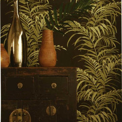 Stroheim La Palma Wallpaper - Get the iconic Beverly Hills Hotel look with this tropical leaf wallpaper from Stroheim available at AmericanBlinds.com.