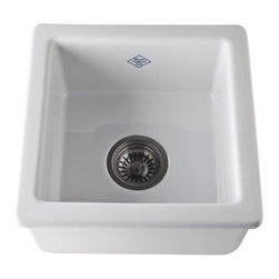 """Rohl - Rohl RC1515WH White Shaws Shaws 15"""" Undermount Fireclay Kitchen Sink - Shaws 15"""" Undermount Fireclay Kitchen Sink With all of the activity it sees, your kitchen sink should be able to withstand it all. The fireclay kitchen sinks from Rohl's Shaws Original Sinks collection are more than able to stand up to the daily punishment, and they look amazing doing it. These durable fireclay kitchen sinks resist scratches, thermal shock, alkaline, and acids, and come in two color options. Choose from two different sinks in Rohl's Original Shaws collection: the main kitchen sink and the bar sink. Rohl RC1515 Features:  Sink Dimensions: 15"""" W x 15"""" D x 7-1/2"""" H Sink weight: 51 lbs. Constructed of fireclay – different than ceramic, fireclay is extraordinarily robust material Can withstand temperatures up to 2700 degrees Fahrenheit Guaranteed to never fade or stain Acid / alkali / abrasion resistant glazed surface Handmade by skilled craftsman (dimensions may vary by +/- 2%) Extra deep single basin design 6-1/2"""" Drain opening positioned center Standard 3.5"""" drain opening Suitable for Insinkerator waste disposal units Due to thickness, extended disposal flange required: Rohl part number: #ISE10082 Will work with Rohl basket strainers: Rohl part number: 735 or 733 Basin rack recommended: Rohl part number: WSG1515 Made in England  About Rohl: Excellence, durability, and beauty. Family values, integrity, and innovation. These are all terms which aptly describe Rohl and its remarkable selection of kitchen and bathroom faucets and fixtures. Since 1983, Rohl has maintained a commitment to providing high-quality plumbing products for residential and commercial applications, while assuring these fixtures would make a difference in the overall décor in the living space. With a dedication to excellence throughout the"""