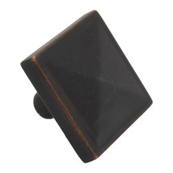 GlideRite - GlideRite 1.125-inch Oil-rubbed Bronze Classic Square Pyramid Cabinet Knobs (Pac - Dress up your cabinets by upgrading to these quality cabinet knobs by GlideRite Hardware. These knobs are a perfect addition or replacement for any kitchen or bathroom cabinet.