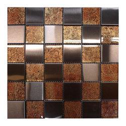 W31 Copper Glass Copper Steel Mosaic - Copper Glass Copper Steel Mosaic