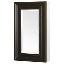 Pegasus Deco 15W x 26H in. Espresso Framed Medicine Cabinet SP4608 - Bathroom Mi
