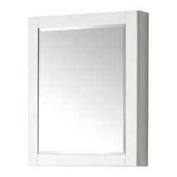 Avanity - Avanity Mirrors Transitional 30 in. L x 24 in. W Framed Wall Medicine Cabinet - Shop for Decor at The Home Depot. The Avanity 24 in. x 30 in. poplar wood framed mirror cabinet features a contemporary white finish and a simple clean design. 2 glass shelves are included for easy storage. It matches with several collections (Brooks Modero Tribeca) for a coordinated look and includes mounting hardware for easy installation. Color: White.