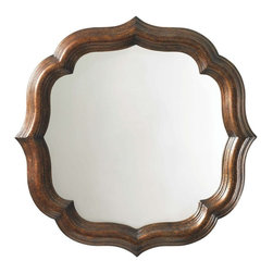 Lexington - Tommy Bahama Home Royal Kahala Lotus Blossom Mirror - The Lotus Blossom Mirror from Royal Kahala will make a marvelous accent in any room of your home. Honoring its namesake, this mirror features a striking lotus blossom shape that is sure to catch one's eye. The mirror frame, crafted from select hardwoods, showcases a beautiful Tortoise Shell finish, where warm golden tones harmoniously balance with the cool mirror surface. Carving details on both the inside and outside border of the mirror frame add depth and simple yet chic detailing to the overall look of the piece. Mirrors are a wonderful way to add light and create the illusion of a larger space. Let the Lotus Blossom Mirror emphasize the elegance and sophisticated styling showcased in your home d'cor.