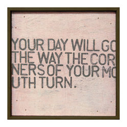 Your Day Will Go Pink Distressed Reclaimed Wood Wall Art, Small