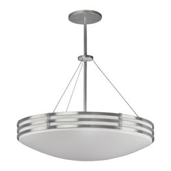AFX Lighting BBP413SAMV Bilbao Satin Aluminum Pendant