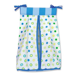 Trend Lab - Trend Lab Dr. Seuss Blue Oh! The Places You'll Go! - Diaper Stacker - 30373 - Shop for Diaper Stackers from Hayneedle.com! The Trend Lab Dr. Seuss Blue Oh! The Places You'll Go! - Diaper Stacker is an adorable way to keep diapers organized and handy. This diaper stacker has a crisp white background with cornflower blue powder blue grass green key lime and soft yellow polka dot print. A cornflower blue and powder blue stripe print completes the look. Two ties at the top make it easy to attach to most dressers and changing tables. This diaper stacker holds up to three-dozen diapers and has a corrugated plastic insert to keep diapers stacked neatly. This is an authentic Dr. Seuss product that coordinates with the Blue Oh! the Places You'll Go! Collection and is sold under license from Dr. Seuss Enterprises L.P. Tidy up Dr. Seuss style.About Trend LabBegun in 2001 in Minnesota Trend Lab is a privately held company proudly owned by women. Rapid growth in the past five years has put Trend Lab products on the shelves of major retailers and the company continues to develop thoroughly tested high-quality baby and children's bedding decor and other items. With mature professionals at the helm of this business Trend Lab continues to inspire and provide its customers with stylish products for little ones. From bedding to cribs and everything in between Trend Lab is the right choice for your children.