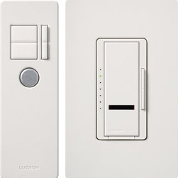 Lutron - Maestro IR Dimmer with IR Remote Control - Single Pole/Incandescent - Single-pole incandescent/halogen dimmer with IR remote control. Available in 600W or 1000W capacity. Wallplate sold separately.