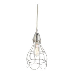 Lazy Susan - Lazy Susan Silver Wire Rose Pendant Light X-140522 - Made from nickel-plated iron