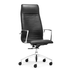 ZUO MODERN - Lion High Back Office Chair Black - Lion High Back Office Chair Black