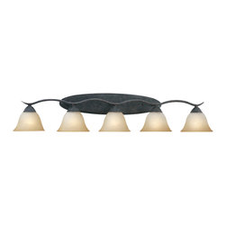Thomas Lighting - Prestige 5 Light Vanity - Thomas Lighting SL748522 Prestige Sable Bronze 5 Light Vanity
