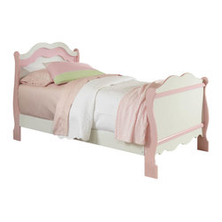 Standard Furniture - Standard Furniture Bubblegum Sleigh Bed in White & Pink - Twin - Bubblegum Bedroom is adorably cute and charmingly sweet, and is lavished with lots of girlie-girl details.