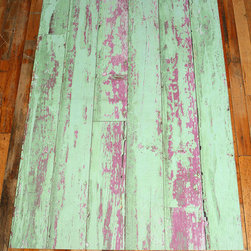 Trompe L'Oeil Floor Mat - Urban Outfitters often has a collection of trompe l'oeil floor mats that are playful additions to a space. I love this painted floor rug. It's especially fun used on a wood planked floor to further play on the illusion.