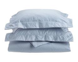 1000 Thread Count Cotton Rich Full/Queen Light Blue Duvet Cover Set - Cotton Rich 1000 Thread Count Full/Queen Light Blue Duvet Cover Set
