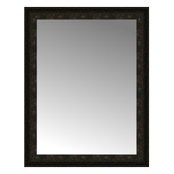 """Posters 2 Prints, LLC - 26"""" x 33"""" Mantilla Expresso Custom Framed Mirror - 26"""" x 33"""" Custom Framed Mirror made by Posters 2 Prints. Standard glass with unrivaled selection of crafted mirror frames.  Protected with category II safety backing to keep glass fragments together should the mirror be accidentally broken.  Safe arrival guaranteed.  Made in the United States of America"""