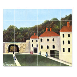 Picture-Tiles, LLC - The Promenaders In The Park Tile Mural By Jean Jacques Rousseau - * MURAL SIZE: 30x36 inch tile mural using (30) 6x6 ceramic tiles-satin finish.