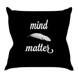 """Kess InHouse - Skye Zambrana """"Mind Over Matter"""" Throw Pillow (20"""" x 20"""") - Rest among the art you love. Transform your hang out room into a hip gallery, that's also comfortable. With this pillow you can create an environment that reflects your unique style. It's amazing what a throw pillow can do to complete a room. (Kess InHouse is not responsible for pillow fighting that may occur as the result of creative stimulation)."""