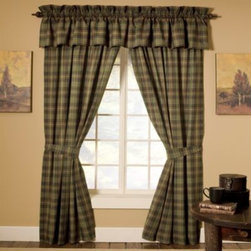 Mytex Llc. - Barnwood Patch Window Panel Pair - Show off your style with Barnwood Patch drapes. This window treatment set pairs with the matching bedding or comforter set.