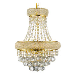 French Empire Crystal Chandelier Chandeliers Lighting Gold H19 X W14 3 Lights - Chandelier crystal lighting . A great european tradition. Nothing is quite as elegant as the fine crystal chandeliers that gave sparkle to brilliant evenings at palaces and manor houses across europe. The timeless elegance of this chandelier is sure to lend a special atmosphere anywhere it is placed!