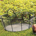 """Achla - Large Harvest Basket - Our Large Harvest Basket measures a generous 25.5"""" by 21.5"""" and is 10"""" deep.  It's crafted of steel and powdercoated in black for lasting durability.  Use it to carry delicious garden vegetables, fresh baked breads or a tasty picnic lunch! * Steel. 21.5 W x 25.5 L x 10 H in."""