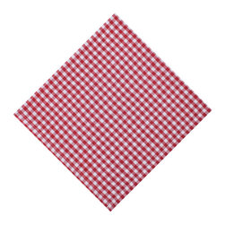 KAF Home - Gingham Napkin Red - Our solid-colored napkins are versatile, soft and essential for any kitchen, modern or classic. Available in a variety of colors, these napkins are perfect for casual or formal occasions, indoor or outdoor.