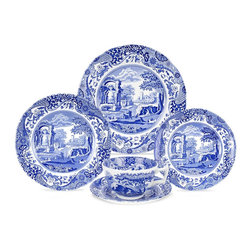 "Spode ""Blue Italian"" 5-Piece Place Setting - This Spode china is one of my favorites. My guests always comment on it when I entertain."