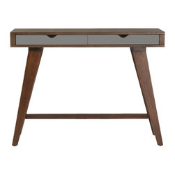 Eurostyle - Daniel Console Table-Dk - This eye-opening console table provides you with display space on top and storage space below, in the form of dual drawers. The base also features gorgeous, angled legs, for a stunning silhouette.