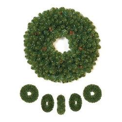 Sedona Fir Christmas Wreath - APPRECIATE THE VERDANT BEAUTY FROM EVERY ANGLE WITH OUR SEDONA FIR DOUBLE-SIDED CHRISTMAS WREATH