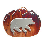 "Lazart - 3D Bear Rustic Metal Wall Art by Neil Rose 12"" - 3D  Bear  Rustic  Metal  Wall  Art  by  Neil  Rose  -  12          With  a  rust  finished  mountain  background,  this  3D  bear  wall  art  is  perfect  for  your  rustic  decor.  Cut  from  sheet  steel,  this  metal  art  for  the  wall  captures  the  eye  every  time  you  enter  the  room.  Add  this  decorative  black  bear  accessory  to  your  rustic  bear  theme,  log  home  or  rustic  cabin  for  that  special  touch  you're  after.  This  metal  art  is  laser  cut  and  treated  with  a  heat  transfer  process  for  a  deep  honey  pinion  finish."