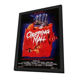 Chopping Mall 11 x 17 Movie Poster - Style B - in Deluxe Wood Frame - Chopping Mall 11 x 17 Movie Poster - Style B - in Deluxe Wood Frame.  Amazing movie poster, comes ready to hang, 11 x 17 inches poster size, and 13 x 19 inches in total size framed. Cast: Karrie Emerson