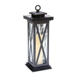 Unbranded - Outdoor Lighting. Textured Black Solar LED Lantern - Shop for Lighting & Fans at The Home Depot. Solar powered Table top lantern. Elegant design with real glass lens. Textured Black Finish. Multiple functions for table top, pool side, deck, walkway and more.