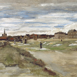 WCC - Bleaching Ground at Scheveningen by Van Gogh Giclee Print on Artist's Canvas - High quality 0.56 mm thick 400 gsm cotton canvas.