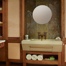 Asian Bathroom by EW Kitchens & Extraordinary Works