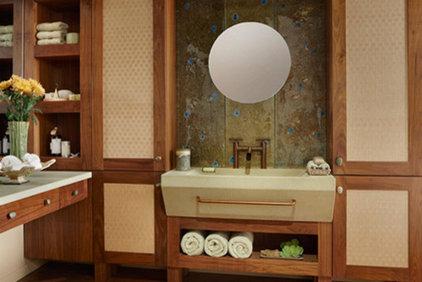 Asian Bathroom by EW Kitchens & Extraordinary Works