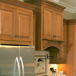 CliqStudios.com - Wood Range Hood - Create a custom, integrated look with Cliq Cabinetry's Wall Wood Hood. The Wall Wood Hood can make your cooking area the focal point of your kitchen and the talk of the neighborhood. Available in 3 heights.