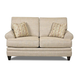 Klaussner - Upholstered Loveseat in Straw - Feel casual and carefree with the fresh looking Fresno collection. Accent arm pillows splash in color and texture to brighten up the Fresno and your home. This Fresno collection is so fresh and so clean.