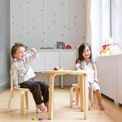 Scandinavian Child Svan Play With Me Table And Chairs - Your child will love playing board games, doing art projects, hosting tea parties, and more with the Scandinavian Child Svan Play With Me Table And Chairs. Perfectly sized for your children, this table set includes a table, three chairs, with an ergonomically curved backrest, and a stool so adults can easily join in on the fun. Crafted from high-quality, solid birch wood in a modern Scandinavian design, this table is available in your choice of colors and looks beautiful with almost any decor. About Scandinavian Child Scandinavian Child, based in Raleigh, North Carolina, is the exclusive North American distributor for some of the world's finest children's products from Anka, Beaba, Cariboo, LilleBaby, and Svan. These cutting-edge brands produce high-quality products for children and babies that emphasize beautiful design, functionality and safety, eco-friendly manufacturing, and superior quality. The company was officially launched in 2003, shortly after the birth of founder Brenda Berg's first child.