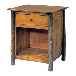 Flat Rock Furniture - Flat Rock Berea Nightstand - The Berea Nightstand is the perfect compliment to Flat Rock's hickory bed. Hickory poles and Pine solids and veneers