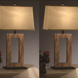 None - Sbarz 31-inch Table Lamps (Set of 2) - Add extra lighting in any room with these chic contemporary table lamps. Each lamp is 31-inches tall and has a unique finish that consists of transparent metal with a tropical lining and transitional accents, ensuring these lamps match any decor.