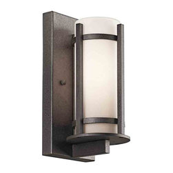 Kichler Lighting - Kichler Lighting 49119AVIFL Camden Anvil Iron Outdoor Wall Sconce - 1, 13W GU24