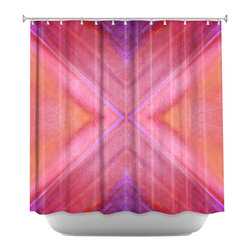 DiaNoche Designs - Shower Curtain Artistic - Geo IV - DiaNoche Designs works with artists from around the world to bring unique, artistic products to decorate all aspects of your home.  Our designer Shower Curtains will be the talk of every guest to visit your bathroom!  Our Shower Curtains have Sewn reinforced holes for curtain rings, Shower Curtain Rings Not Included.  Dye Sublimation printing adheres the ink to the material for long life and durability. Machine Wash upon arrival for maximum softness. Made in USA.  Shower Curtain Rings Not Included.