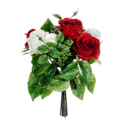 Silk Plants Direct - Silk Plants Direct Rose and Mini Berry Bouquet (Pack of 12) - Pack of 12. Silk Plants Direct specializes in manufacturing, design and supply of the most life-like, premium quality artificial plants, trees, flowers, arrangements, topiaries and containers for home, office and commercial use. Our Rose and Mini Berry Bouquet includes the following: