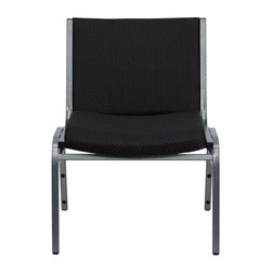 Flash Furniture - Hercules Series 1000 lb. Capacity Big and Tall Extra Wide Black Fabric Stack Cha - This heavy duty stack chair will endure the test of time with its 1000 lb. capacity frame. Now you don't have to worry about comfortably seating anyone with this multi-purpose chare. The versatility of the chair makes it appropriate to use in the Church, Offices, and Training Rooms or in the Classroom or Home. The thick padded seat and back will keep users comfortable throughout the duration of the day. Not only is this chair comfortable, but it is very durable with its heavy duty frame with bumper guards that will prevent the finish on the frame from being scratched when stacked. So when in need of temporary or permanent seating this multi-purpose stack chair is sure to meet the needs for any venue.
