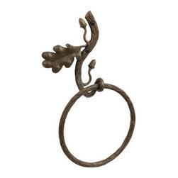 Stone County Ironworks - Oakdale Towel Ring (Antique Copper) - Finish: Antique Copper. Made from iron. Weight: 4 lbs.The Oakdale is truly a work of art!