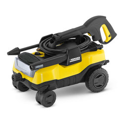 Karcher North America - Washer Pressure Electric 1800Psi - Follows as you clean over and around most obstacles and surfaces like concrete drives, gravel paths, lawns and gardens, stone and brick patios and wood or composite decks. Molded trigger gun storage securely stores trigger gun. DirtBlaster spray wand prov  ides ideal pressure. Quick connect system on hose connection makes set up fast and easy; simply push and click into place. On board removable detergent tank. Child safety lock to prevent damage to pressure washer. Durable, non-corrosive polymer self primi  ng/siphon capable; draw from a standing or collected water source. Unique four wheel base with oversized rear wheels and durable front casters. Vario power spray wand adjusts water pressure level right at the wand. Pressure washer holds all   on board attachments to keep everything you need within reach.        This item cannot be shipped to APO/FPO addresses.  Please accept our apologies
