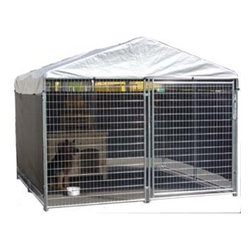 Jewett-Cameron Companies - AKC Galvanzied Kennel, 6'H x 10'W x 10'L - The AKC Welded Wire Kennel delivers the highest quality, performance, and appeal compared to other leading dog kennels. You get access to the highest quality kennels, and your pets get a comfortable and safe environment.