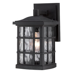 Quoizel Lighting - Quoizel Lighting SNN8406K Stonington Outdoor Fixture - A design inspired by classic Arts & Crafts, the Stonington collection features clear water glass for added visual interest and the design appeals to traditional homes as well. It is available in two versatile finishes, Mystic Black and Palladian Bronze, which will compliment many color schemes. The Stonington collection is made of our new, Coastal Armour material. It is significantly more durable, less prone to fading and features finer details than your average outdoor pieces.