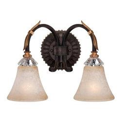 Metropolitan - Metropolitan N2692-258B Bella Cristallo 2 Light French Bronze Bath Light - Features: