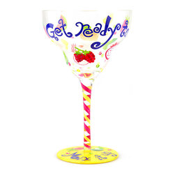 Top Shelf Glasses - 'Mix It Up' Hand-Painted Margarita Glass - Perfect for parties or entertaining, this beautiful glass features unique hand-painted details that are sure to draw compliments from guests. �� 7'' H x 4.25'' diameter Glass Hand wash Imported