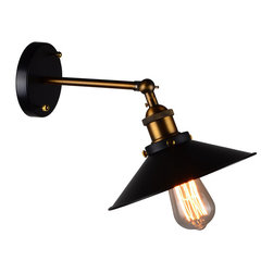 ParrotUncle - Ancient Country Style Iron Hallway Wall Lamp - Traditional metal lampshade covered industrial Edison bulb, it is stylish for your house. No matter you set it on the wall of hallway or living room. It will bring you warm light and relax you.
